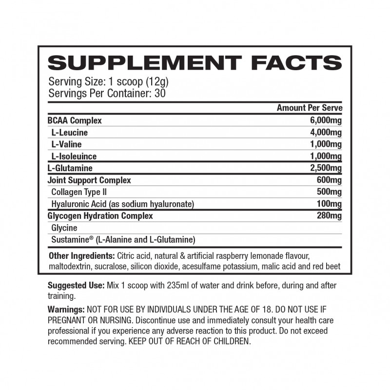 BCAA Glutamine + Joint Support by 1UP