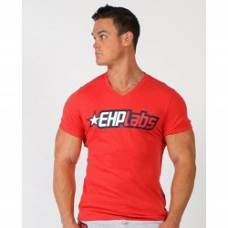 Men's Red T-shirt by EHP Labs front