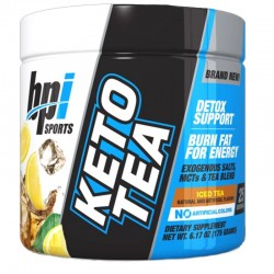 Keto Tea 25 serves Iced Tea by BPI Sports