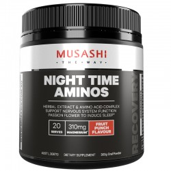 Night Time Aminos 300g Fruit Punch by Musashi