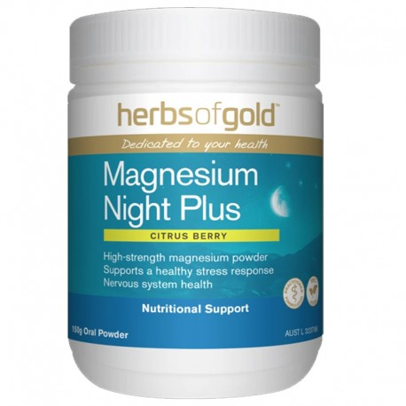 Magnesium Night Plus by Herbs of Gold Citrus Berry